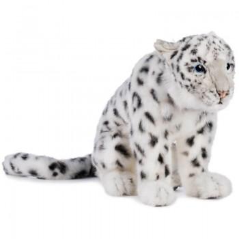 Leopardo delle nevi seduto