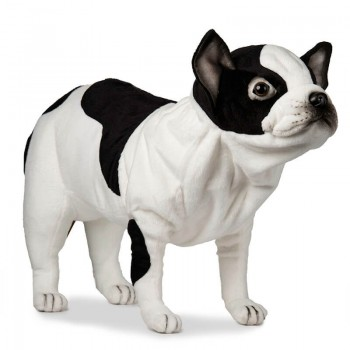 Bulldog francese bianco/nero Peluche Hansa Creation