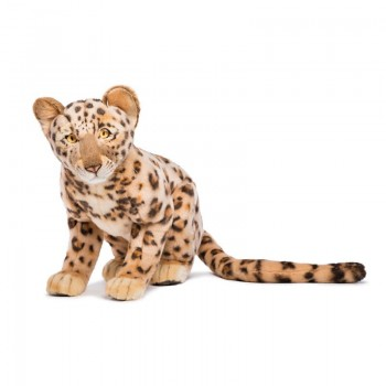 CUCCIOLO DI LEOPARDO SEDUTO Hansa Creation