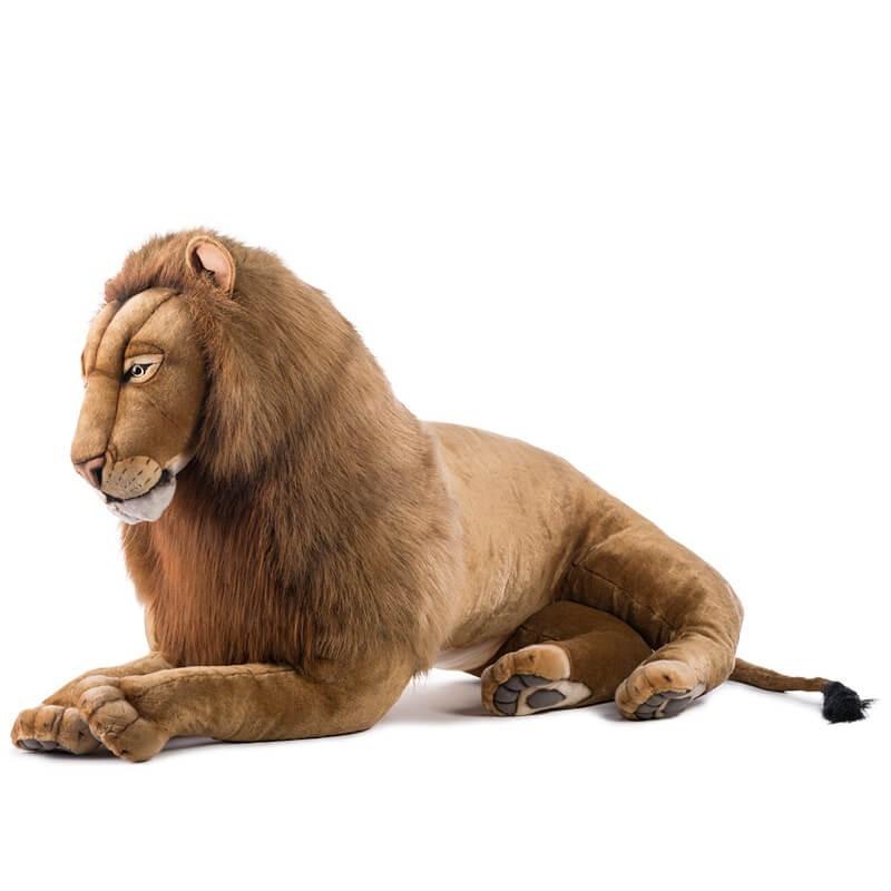 leone peluche  Leone gigante disteso