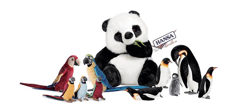 Hansa Creation Slider Panda e pappagallini